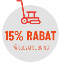 15% rabat på gulvafslibning